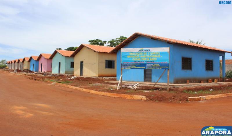 Imagem destaque notícia Prefeitura fará entrega de casas populares no aniversário de Araporã
