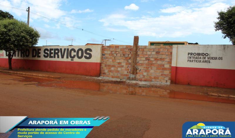 Imagem destaque notícia Prefeitura atende pedido de moradores e muda portão de acesso do Centro de Serviços