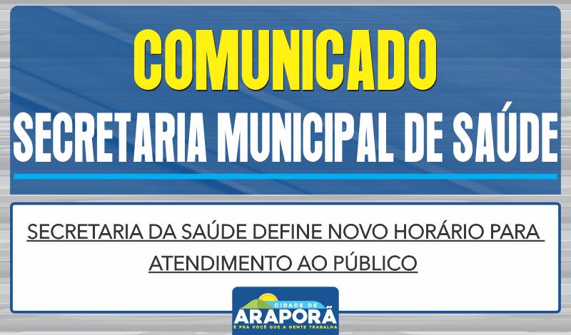 Imagem destaque notícia Secretaria da Saúde define novo horário para atendimento ao público
