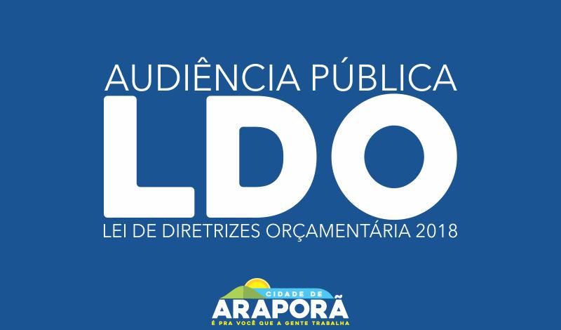 Imagem destaque notícia Prefeitura de Araporã discute com população elaborada da LDO