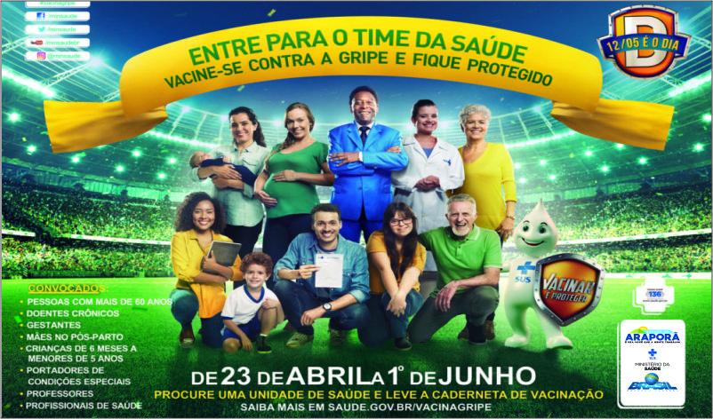 Imagem destaque notícia CAMPANHA CONTRA A GRIPE COMEÇA DIA 23