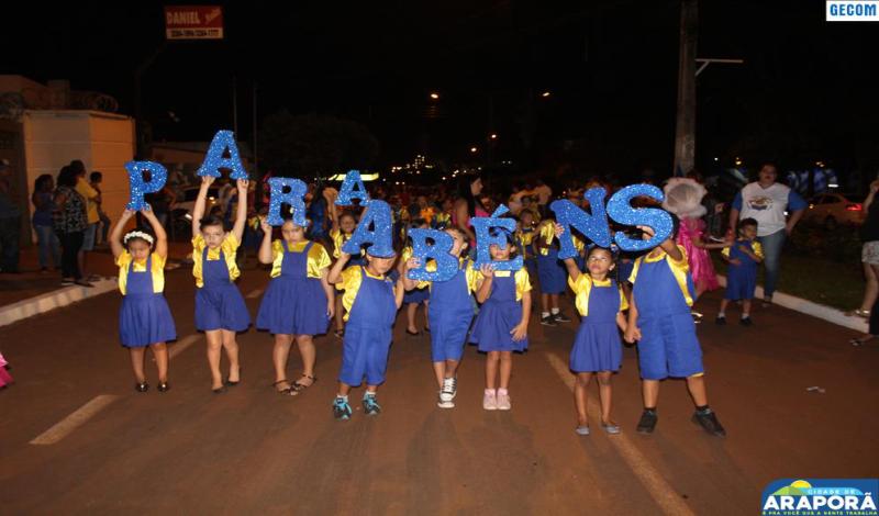 Imagem destaque notícia Desfile cívico-estudantil encerra comemoração do aniversário de Araporã
