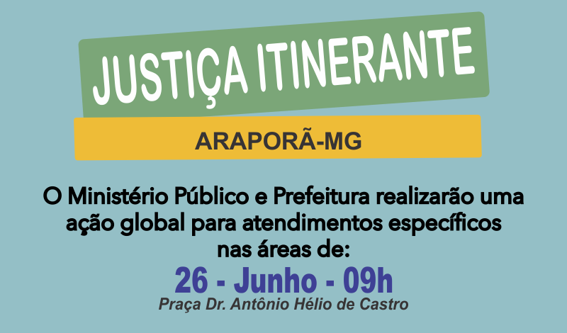Imagem destaque notícia Ministério Público Itinerante em Araporã