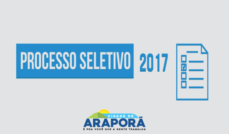 Imagem destaque notícia PROCESSO SELETIVO SIMPLIFICADO Nº 003/17