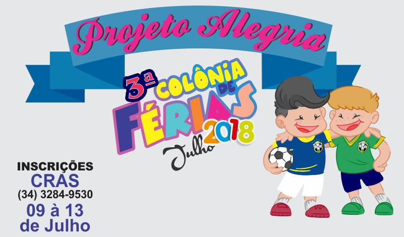 Imagem destaque notícia Prefeitura de Araporã prepara 3ª Colônia de Férias
