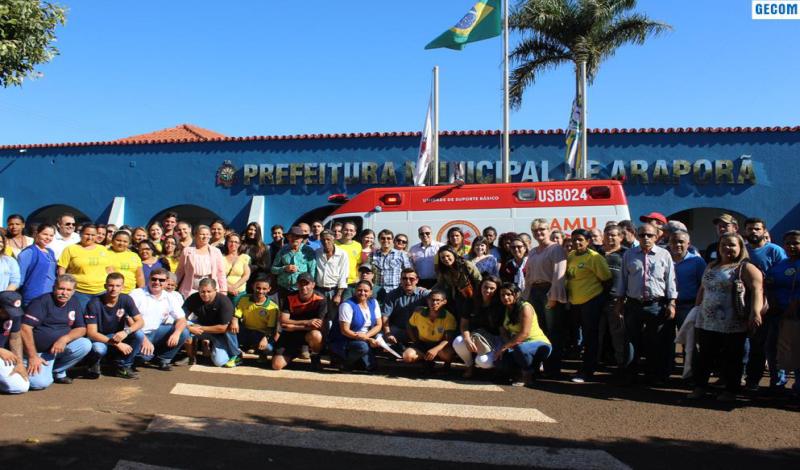 Imagem destaque notícia Ambulâncias do SAMU são apresentadas em Araporã