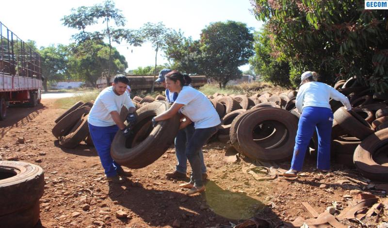 Imagem destaque notícia Secretarias promovem campanha para recolhimento de pneus