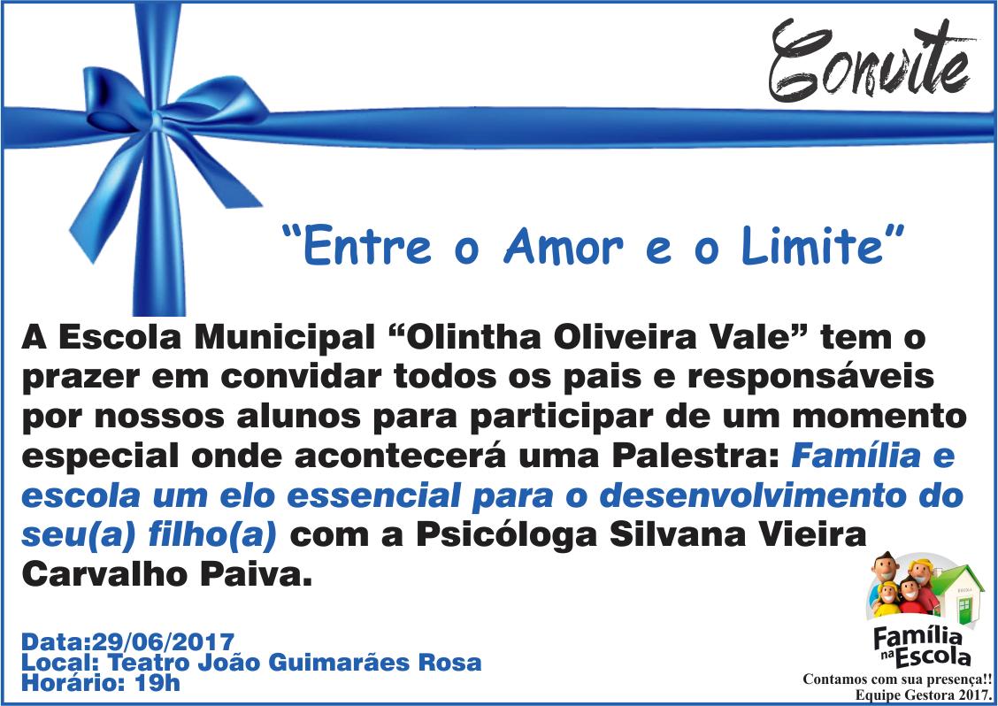 Imagem destaque notícia Escola Olintha realiza palestra para pais de alunos dentro do Projeto Família na Escola