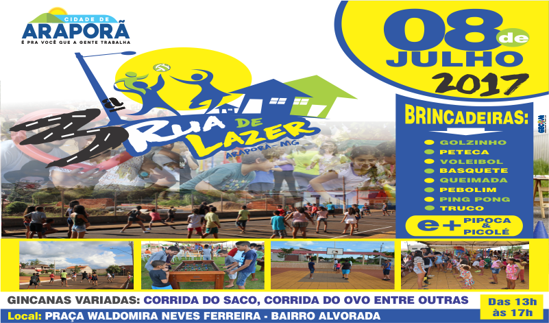 Imagem destaque notícia Prefeitura de Araporã prepara 3ª edição do evento Rua de Lazer